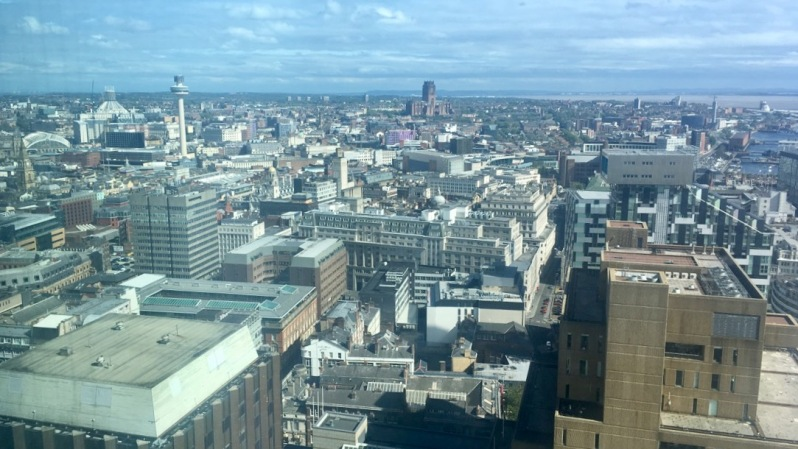 Liverpool City Centre birdseye view