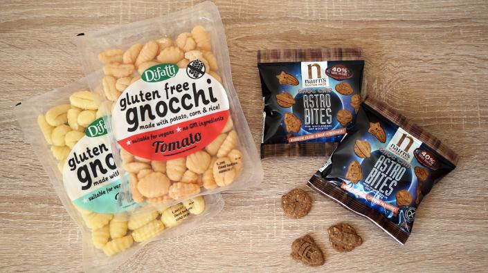 Difatti gluten free gnocchi and Nairn's gluten free astro snacks