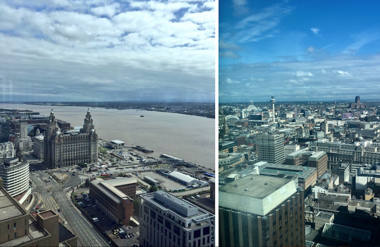 Panoramic view of Liverpool