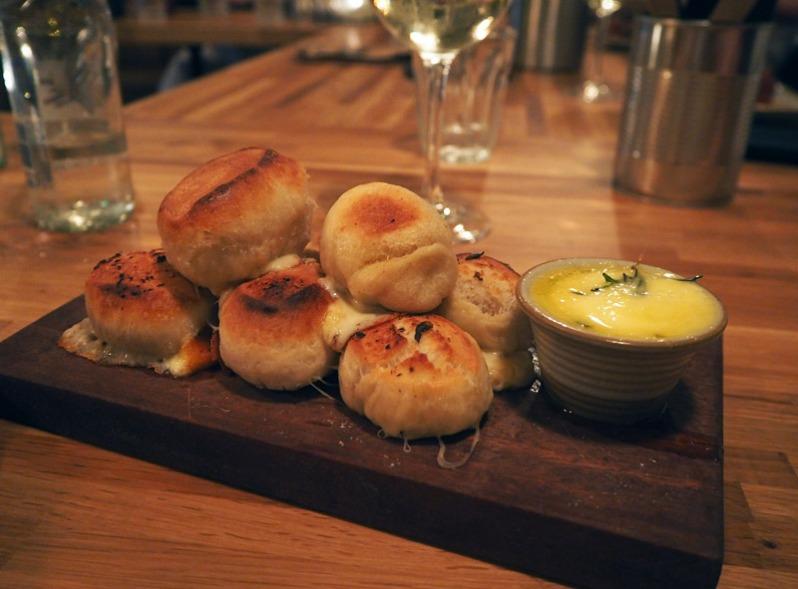 Garlic and cheese doughballs at Elephant Bank pizza